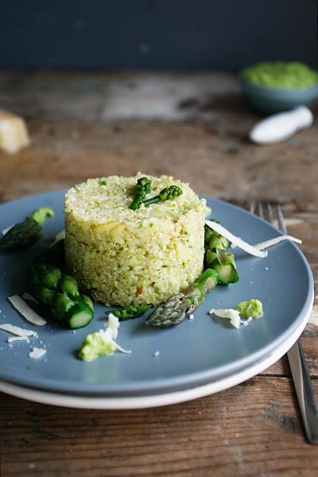 Quinoa-asperge-pesto