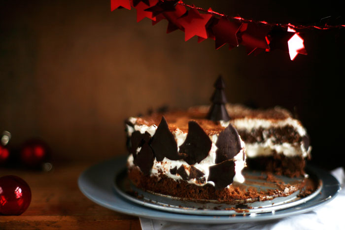 Chocolade kersttaartje