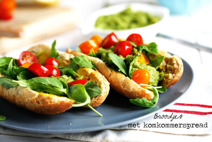 Broodjes-komkommerspread