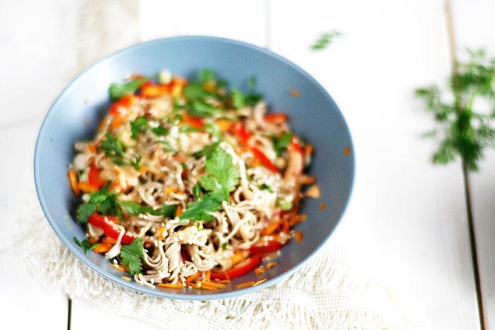 Noodles-en-tuinbonen