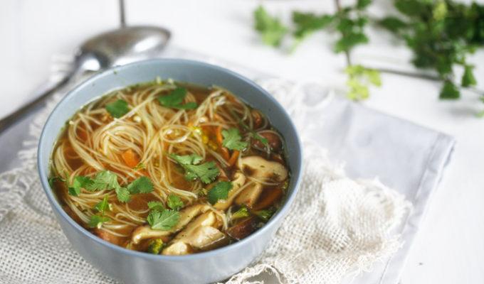 Snelle noodlesoep